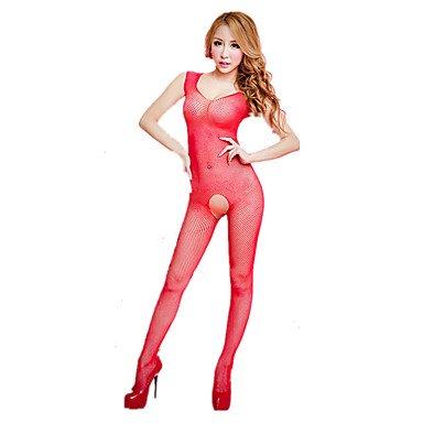 HJL Completi Indumenti da notte Rayon Nylon-Sexy Retrò Jacquard , red , one-size red