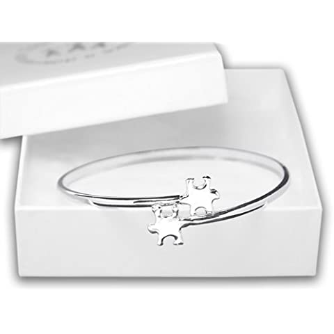 Elegant Autism Puzzle Bangle Bracelet (Retail) by Fundraising For A Cause