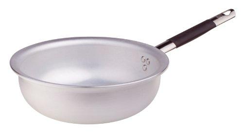 Pentole Agnelli Mantecare Padella Salta Pasta e Riso, Radiante, in Alluminio, Spessore 5 mm, con Manico Tubolare in Acciaio Inossidabile Cool, Argento, 20 cm