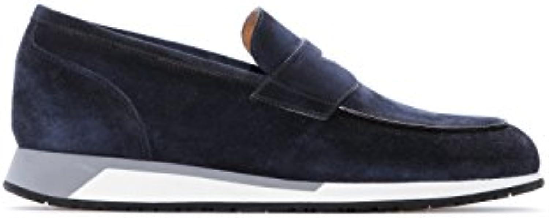 Santoni Herren Sneaker Blau Blau  Billig und erschwinglich Im Verkauf