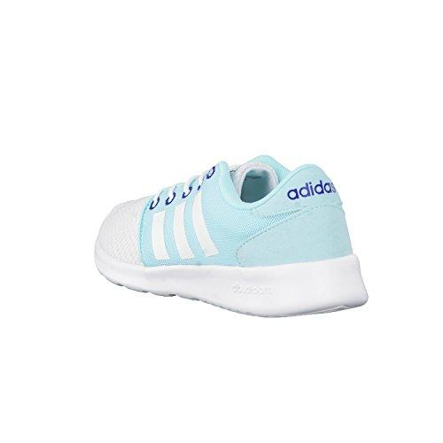 adidas Cloudfoam Qt Racer W, Sneaker a Collo Basso Donna Bianco (Ftwbla/Ftwbla/Tinuni)