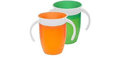 Juego de 2 vasos de aprendizaje Munchkin Miracle 360, de color verde...