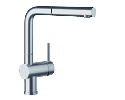 Preisvergleich Produktbild Blanco LINUS-S-F Küchenarmatur, metallische Oberfläche, Edelstahl finish, Hochdruck, Vorfenster, 1 Stück, 514024