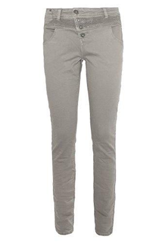 Rock Angel Damen Skinny-Fit Hose BROOK | Bequeme 5-Pocket Stretch Twill-Hose light-grey L