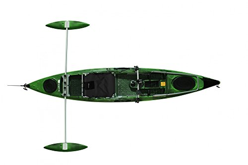 Tahe Marine Kajak Fit 132 SOT PE Deluxe Angler Sit on Top Kajak Angelkajak, Farbe:Camouflage, Ausstattung:Mit Steuer/Deluxe Seat/Angler -