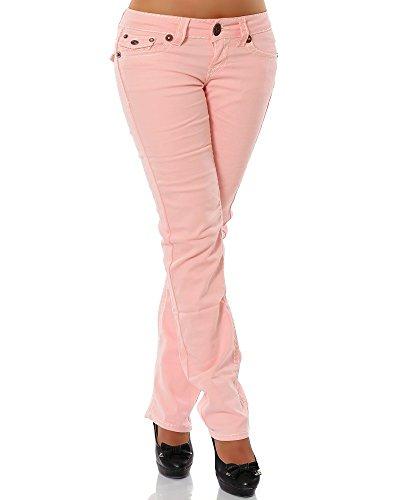 Herren Hose Praxis (Damen Jeans Straight Leg (Gerades Bein Dicke Nähte Naht weitere Farben) No 12923, Größe:42;Farbe:Lachs)