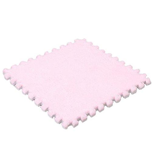 Weiche Baby Kids Schaum Puzzle Bodenmatte, Teppich Schaumstoff Spielmatte für Bodenschutz, Garage, Übung, Yoga, Spielzimmer (Pink) - Schaumstoff Ineinander Greifende Matten