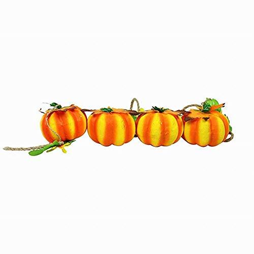 Semine Halloween Dekoration Werkzeuge Künstliche Kürbis String Anhänger Perfekte Dekoration Bar, KTV, Kindergarten, Spukhaus (Kindergarten Für Halloween-party-essen)