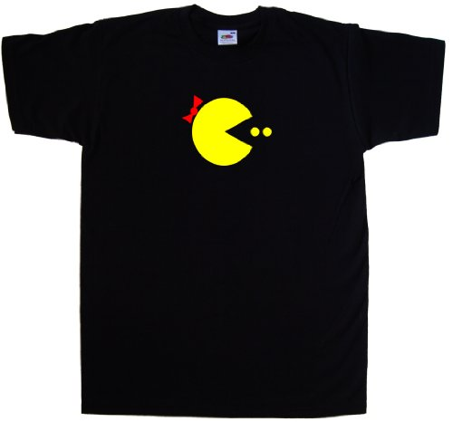 Ms. Pacman Men's Black T-Shirt - S to 6XL