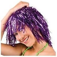 Perruque disco brillante adulte-Violet-
