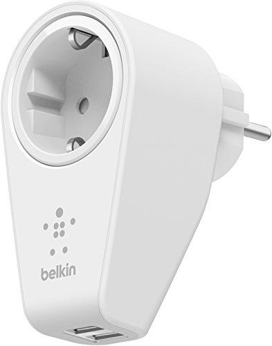 Belkin Schwenkbares Boost Up Ladegerät mit Steckdose (geeignet für iPhone 5/5c/5s, iPhone 6/6s/6 Plus/6s Plus, iPhone 7/7 Plus, iPhone SE, iPad Air 2, iPad Pro, Smartphones, Tablets) weiß (Netzteil Belkin)