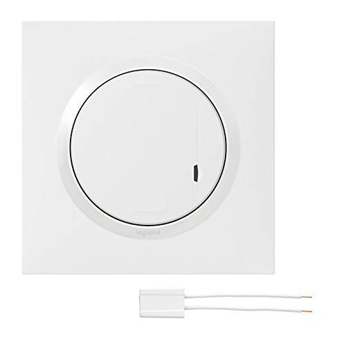 interrupteur variateur connecté - 300w - blanc - legrand dooxie 600081