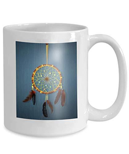 Ahaltao Taza de café, Taza de café Divertida Ilustración de Regalo Atrapasueños Tradicionales Atrapasueños Tradicionales Dreamy