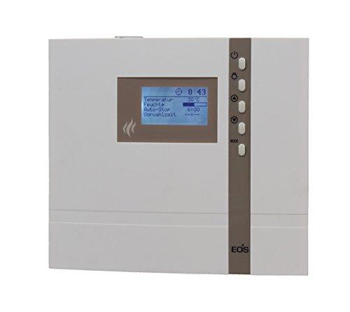 EOS Saunasteuerung ECON D2, externe Steuerung für die Sauna mit 24 h Vorwahluhr inkl. Temperaturfühler und Überhitzungsschutz für die rein finnische Sauna - Original EOS - Ohne Fremdmarkenlogo