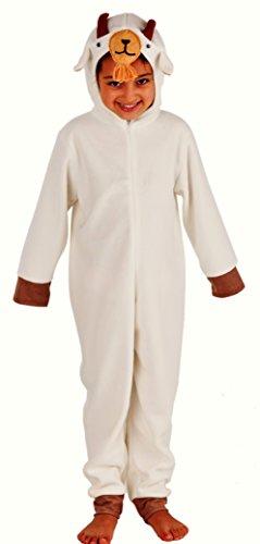 Magicoo Ziegenkostüm für Kinder - Lamm Kostüm für Kinder Fasching Karneval - Ziege Kostüm Kinder - Bock Kostüm (128)