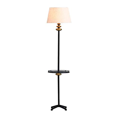 MMJ Schmiedeeisenbodenlampe American Glass Rack Fabric Lampe Lampe Schatten Vertikal Tisch Bedroom Creative Coffee Table Lampe Sofa (Größe: 164cm)