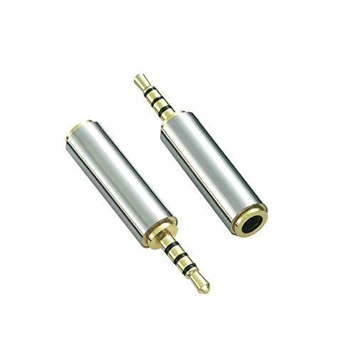 2.5mm Male to 3.5mm Audio Adapter,Kopfhörer Audio Kopfhörer Konverter Adapter Klinkenstecker Verlängerung, 2.5mm Audio Stecker auf 3.5mm Buchse Stereo Audio AUX (2 Stück) Stecker Audio Adapter