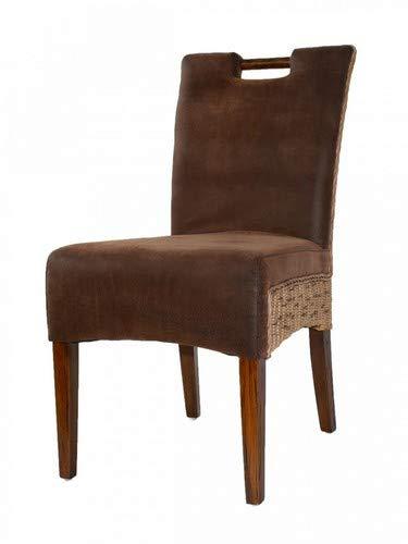 casamia Rattan-Stuhl Esszimmerstuhl Polsterstuhl Bilbao vollgepolstert Polster Prairie Brown