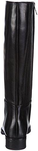 Geox D Mendi Q, Stivali da Equitazione Donna Nero (BLACK C9999)