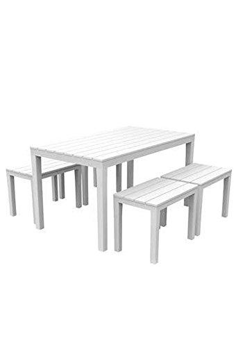 Ipae Samoa-Set, Kunststoff, weiß, 30x 30x 30cm -