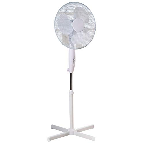 31GnqjkkAnL. SS500  - Fine Elements 16-Inch Stand, Portable Fan For Home or Small Office, 3 Speed Settings, Sturdy Base, Easy-To-Use Key Switch, Ideal Cooling System-White, One Size