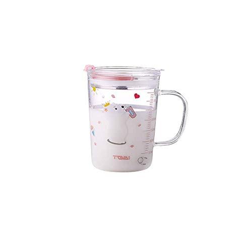 Kaffeetassen Kaffee Kakaotasse Kaffeetasse, Kaffeebecher Tee Mit Skala Stroh Tasse Glas Mädchen Ins Wind Erwachsener Hat Einen Henkel Saft Milch Tasse A1612