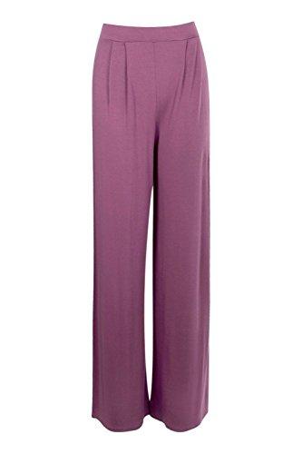 Femmes Mauve Emilia Pantalon Large En Jersey Touchant Le Sol Mauve