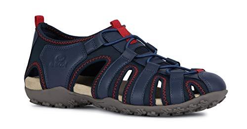 Geox Sandal STREL D9225A Damen Trekking Sandalen,Frauen Outdoor-Sandale,Sport-Sandale,geschlossener Zehenbereich,DUNKELBLAU,37