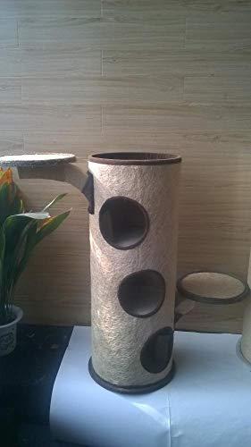 Daeou kratzbäume für Katzen Heimtierbedarf Super Raubkatze Eimer Katzenhaus 39 * 39 * 103 cm Plüsch