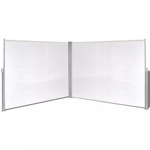 vidaXL Toldo Lateral Retráctil Acero y Tela 180x600cm Crema Biombo de