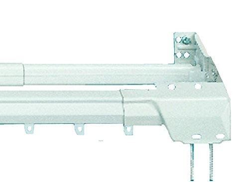 Superfine Traverse 121,9 - 218,4 cm bidirectionnelle dessiner et uni Tige