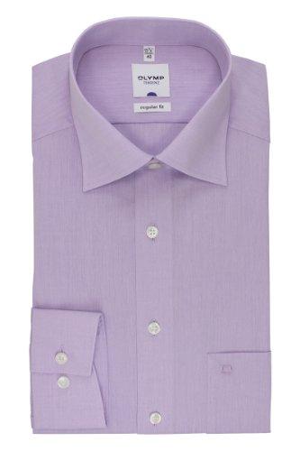 Olymp Hemd Tendenz New Kentkragen in Langarm (64cm) Besonders bügelleicht alt rosa, Einfarbig alt rosa