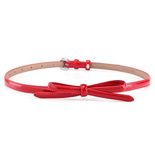 Damen Gürtel Skinny Belt Bow Kette Elastischer Taillenbund Bund (Farbe : Rot) -