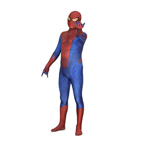 YIWANGO 3D-Druck des Erstaunlichen Spider-Man-Cosplay-Kostüms Lycra-Superheld-All-Inclusive-Kleid Onesies-Bodysuit-Halloween-Party-Maskerade-Zentai-Kostüm,Red-XXXL
