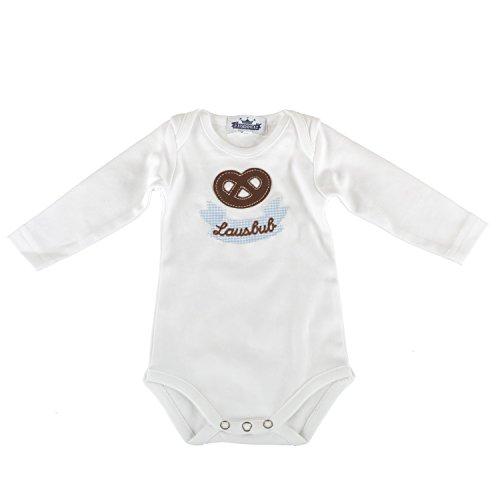 Baby Body langarm Lausbub und Breze fescher Trachtenlook - Größe 80