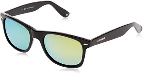 OCEAN SUNGLASSES - Beach wayfarer - lunettes de soleil polarisÃBlackrolles  - Monture : Noir LaquÃBlackroll - Verres : Revo Jaune (18202.2  )