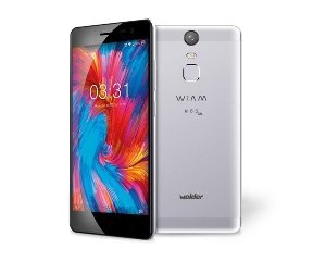 "Wolder WIAM #65 LITE - Smartphone Libre (5"" IPS HD, QUAD CORE, 16 GB Flash, 2 GB RAM, Sensor de Huellas, Android 6.0 Marshmallow, Aluminio, DUAL SIM, 4G) Color Gris"