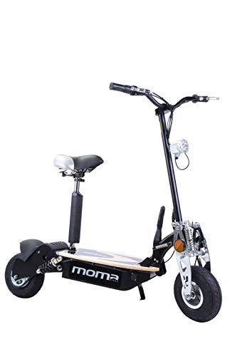 """Moma Bikes 8436578262175, Monopattino Elettrico Pieghevole da 2100 W, Ruote da 10\"""", 42 H, Autonomia 25 Km Unisex - Adulto, Nero, Taglia Unica"""