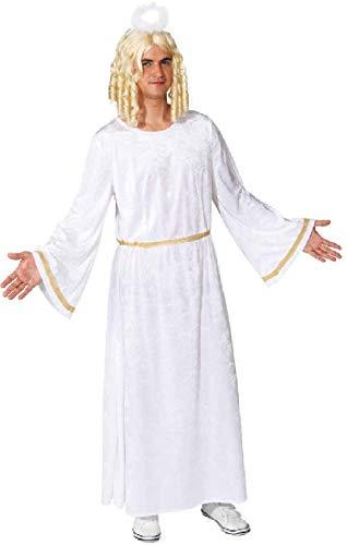 O7346-58-60 weiß Gold Herren Kleid Engels Kostüm Engelchen Gr.58-60 (Weiß Und Gold Engel Kostüm)