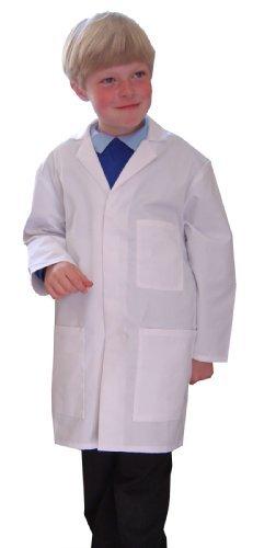 Food Safety Direct Laborkittel/ Arztkittel für Kinder, weiß, Brust ca. 66 cm, 3-4 Jahre (Kinder Weißen Kittel)