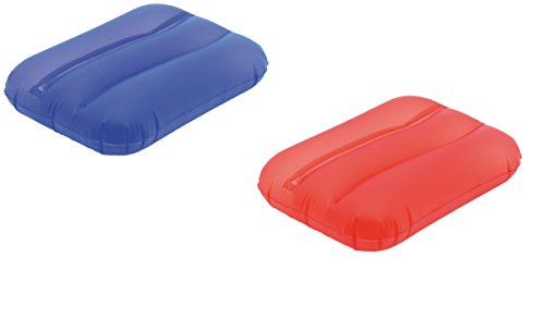 2er Set aufblasbares Schwimmkissen - Strandkissen (rot - blau)