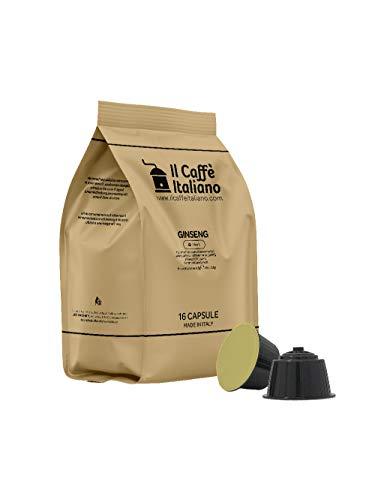 FRHOME - 48 cápsulas compatibles Nescafé Dolce Gusto - Ginseng - Il Caffè italiano