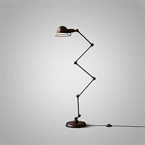 Floor Stand Lights - Loft Industrial Style Retro Eisen Beleuchtung Einfache Postmodern Einstellbare Fünf Abschnitte Stehlampen Schwarz - Design Fixture Lighting -