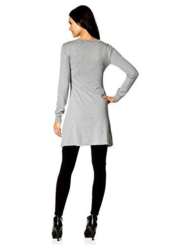 Laura Scott Damen-Kleid Strickkleid Grau Größe 34