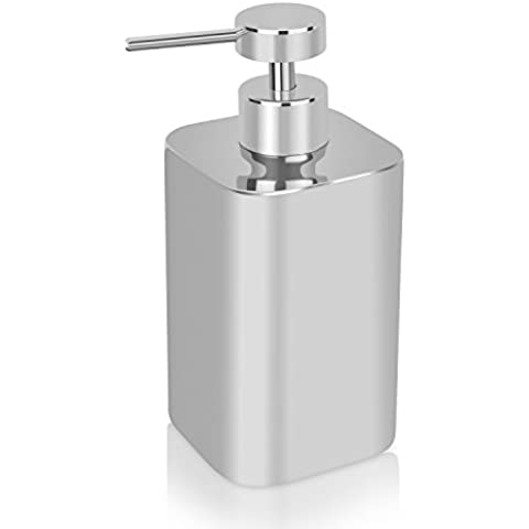 homitex dispensador de jabón acero inoxidable Comptoir jabón dispensador bien construido y resistente, loción Pump dispensador de jabón, Mirror el pulido