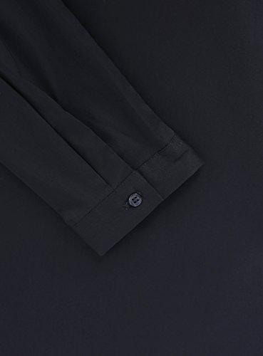 oodji Collection Femme Chemise Coupe Droite avec Fermeture Invisible Noir (2900N)