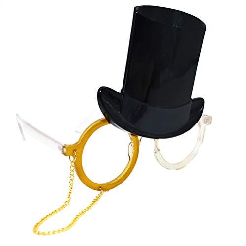 BESTOYARD 1 stück Abschlussfeier Sonnenbrille Arzt Hut Brille mit Goldene Kette Abschlussfeier Foto Prop Zubehör für Kinder Erwachsene