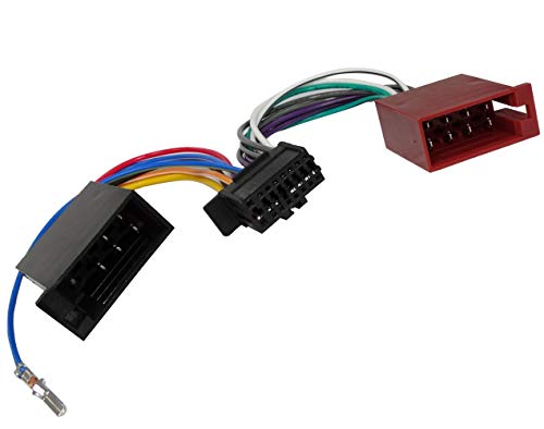 AERZETIX: Adaptateur Faisceau câble fiche ISO pour autoradio Compatible JVC KD-X141 X341BT X342BT Kenwood KMM-103AY 103GY 103RY 123Y BT203 C41216
