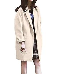 ZODOF Abrigo de Invierno,Abrigo de Lana de Solapa de Invierno para Mujer  Trench Jacket Abrigo Largo de Parka… 8d47ca98ffcc