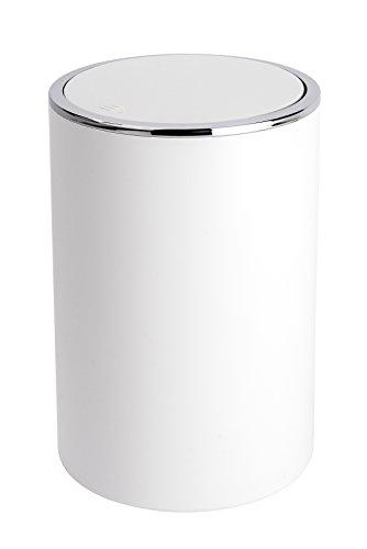 Wenko 22554100 Poubelle Inca ,18,5 x 25,5 x 18,5 cm, Blanc